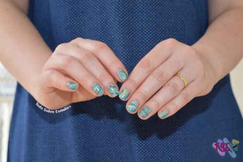 Marble azul verde 1